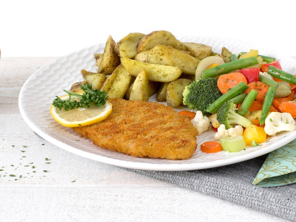 Schouten Europe - Manufacturer of meat substitutes: Vegetarian Schnitzel