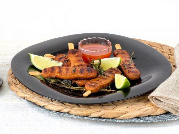 Schouten Europe - Manufacturer of meat substitutes: Vegetarian Skewers with marinade