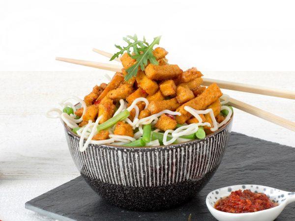Schouten Europe - Manufacturer of meat substitutes: Vegan Spicy Tofu Strips
