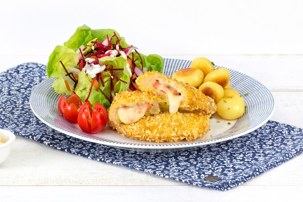 Schouten Europe - Manufacturer of meat substitutes: Vegetarian Cordon Bleu