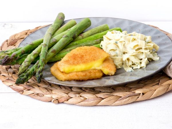 Schouten Europe - Manufacturer of meat substitutes: Vegan Stuffed Schnitzel