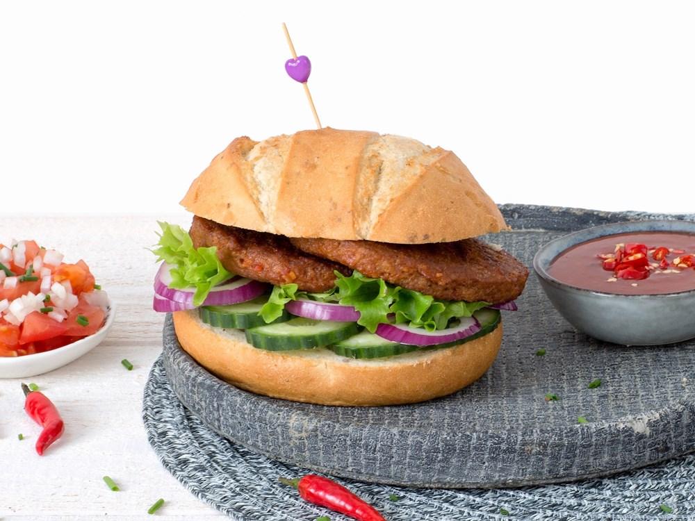 Schouten Europe - Producteurs de substituts de viande: Hamburger végétarien Piri Piri