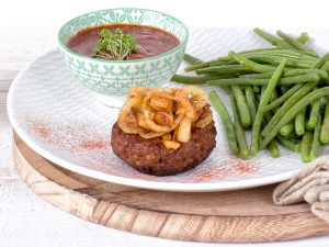 Schouten Europe: manufacturer vegetarian en vegan meat substitutes: Vegetarian Mince Patty