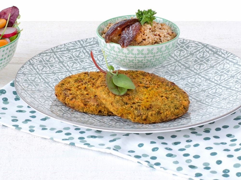 Schouten Europe: manufacturer vegetarian en vegan meat substitutes: Vegan Lentil Burger