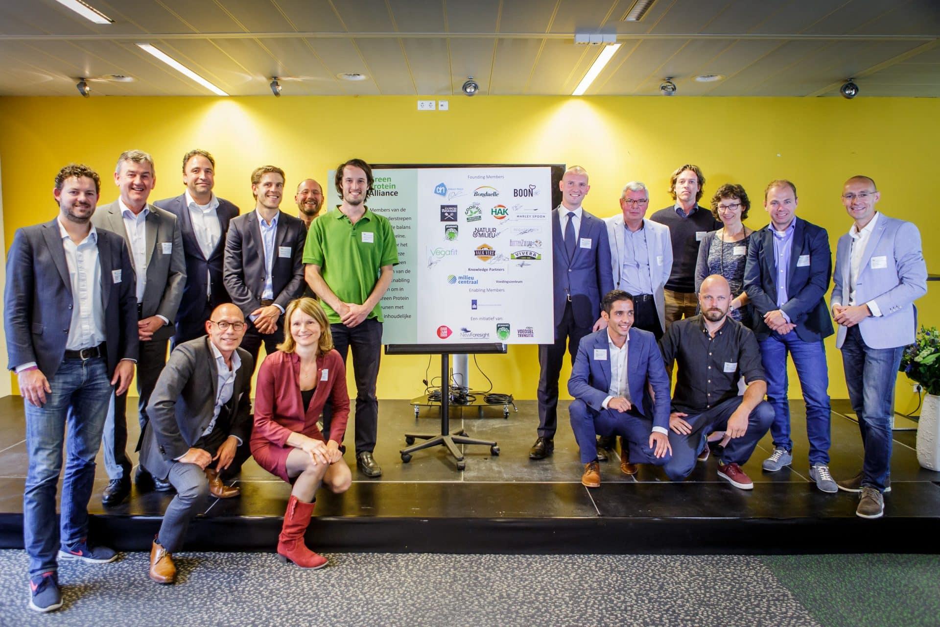 Green Protein Alliance - Founding Members GPA gezamelijk op de foto