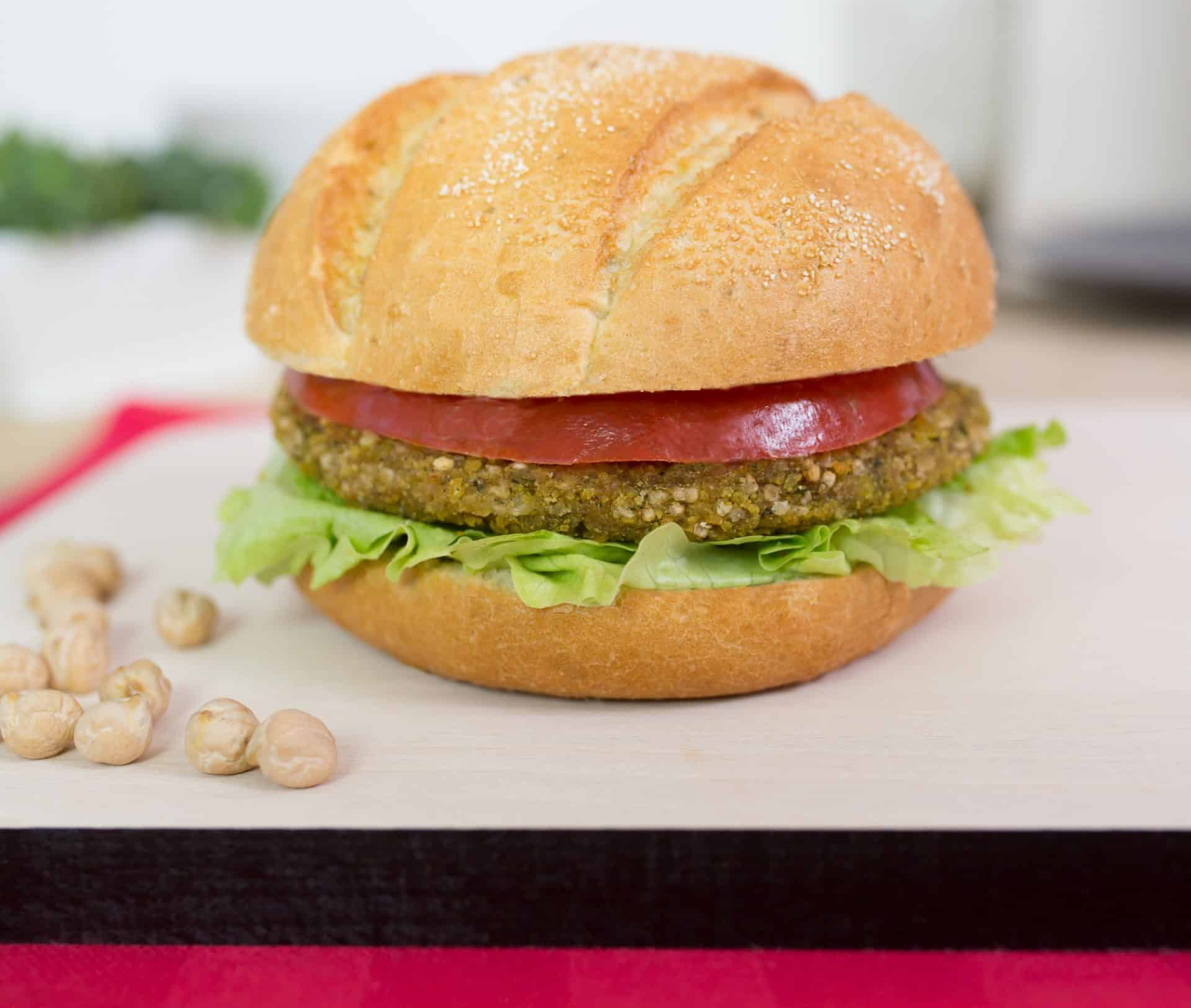 Falafel Quinoa Burger