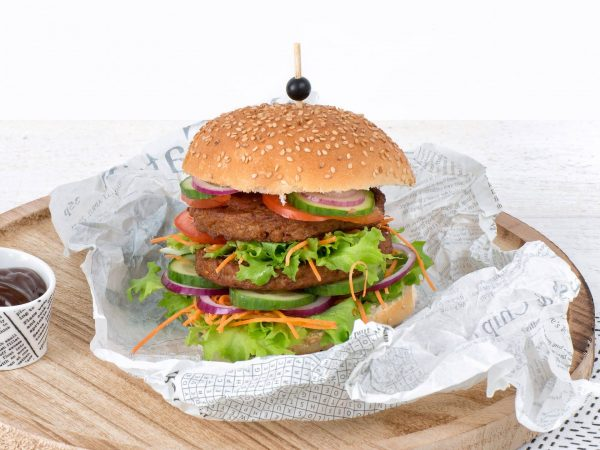 Meat substitute: Vegetarian Hamburger