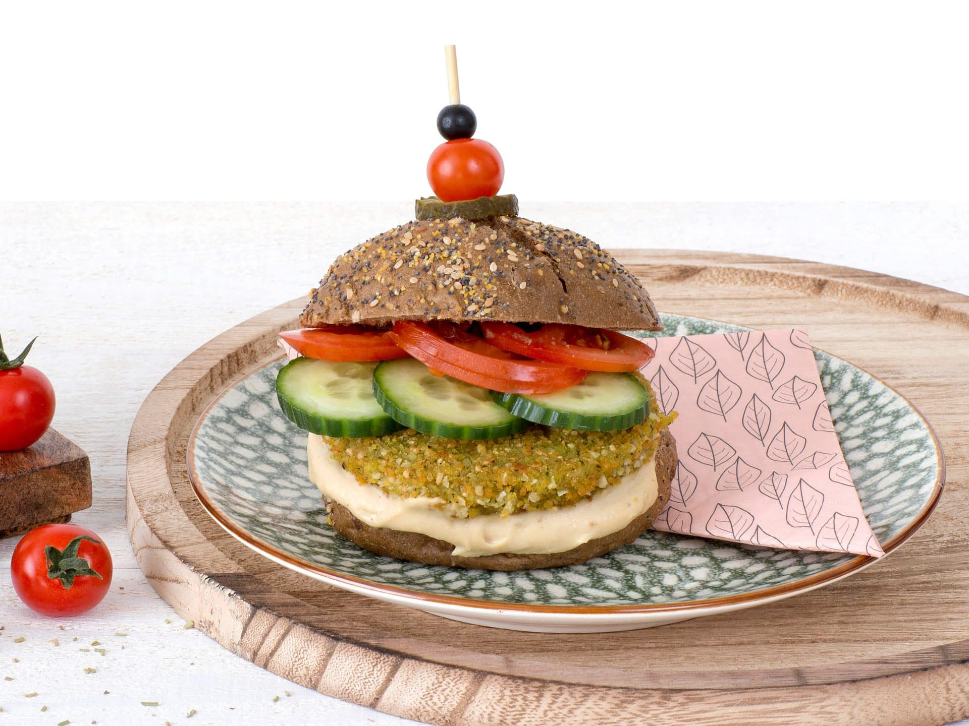 Schouten Specialist in the development of plant-based products - Meat substitute: Vegan Falafel Quinoa Burger