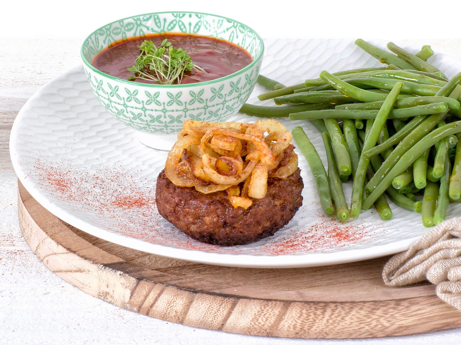 Fleischersatz: Vegetarische Frikadelle