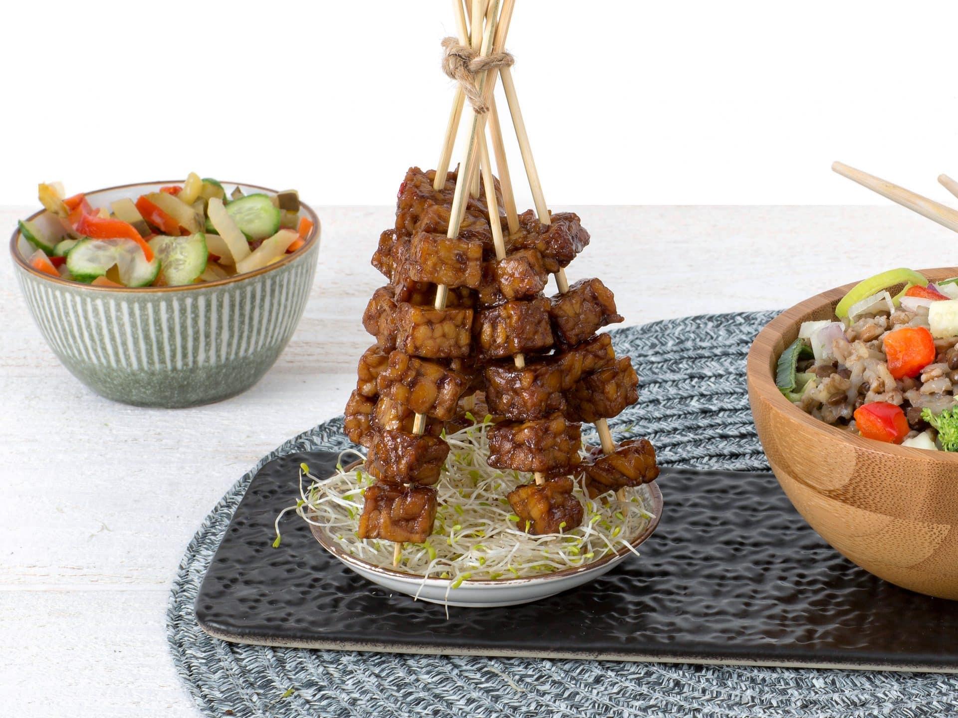 substitut de viande: Cubes de Tempeh végétalien