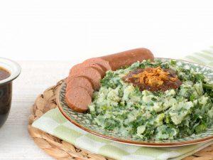 Meat substitute: Vegetarian smoked sausage