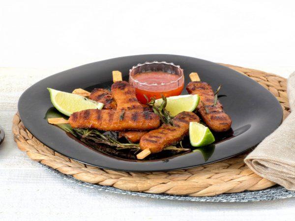 substitut de viande: brochettes végétarien