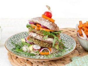 Vleesvervanger: vegetarische Boerenkool Quinoa Burger