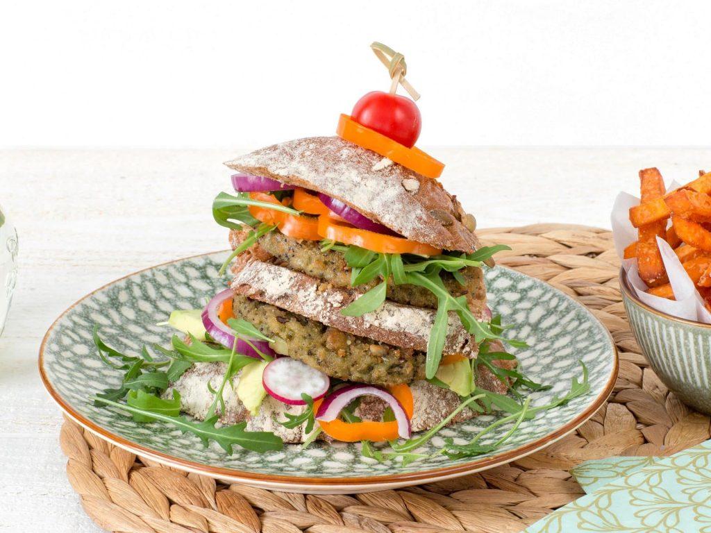 meat substitutes: Vegetarian Kale Quinoa Burger