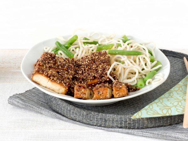 Fleischersatz: Vegane Tofu Block