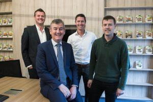 Onze directeur Henk en zijn zoons Peter, Niek-Jan en Wouter Schouten.