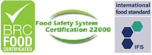 BRC FOOD  - FSSC 22000 (food safety system certification) - IFS