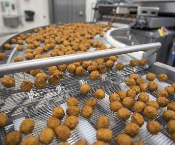 Production Vegetarian balls
