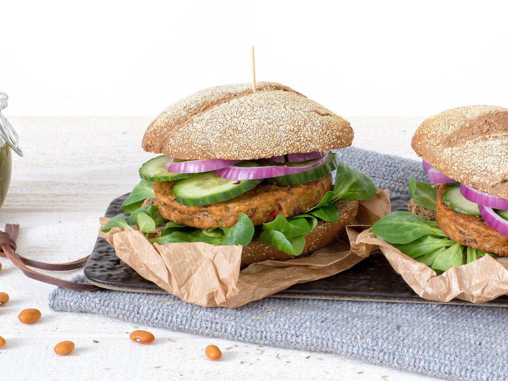 Fleischersatz: Veganer Bohnen Burger