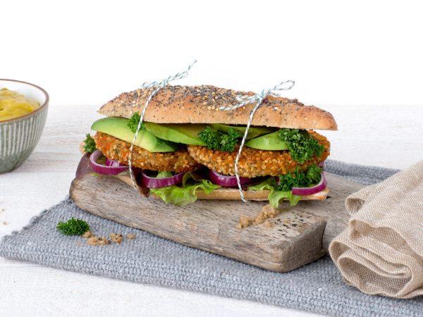 Meat substitutes: Vegan Bean Quinoa burger