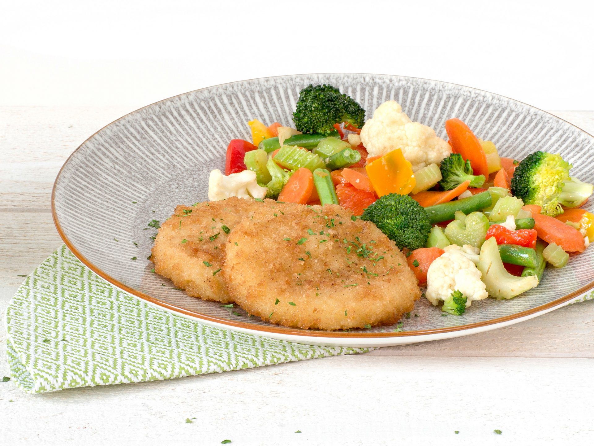 Fleischersatz: vegetarisches Cheezy Schnitzel