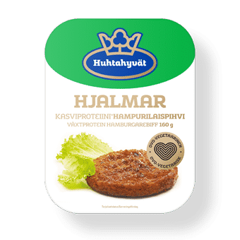 Vleesvervangers: Vegetarische hamburger - Hjalmar-160g