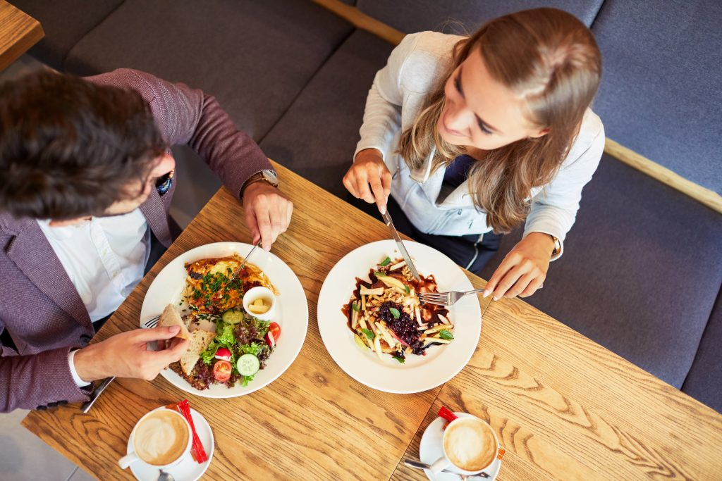 Couple eating Vegan Food
