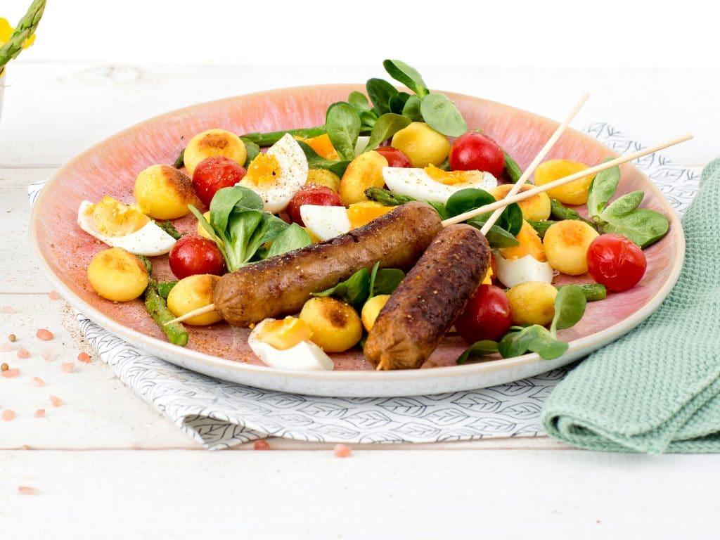 Schouten Europe: manufacturer vegetarian en vegan meat substitutes:  Vegetarian marinated sausages
