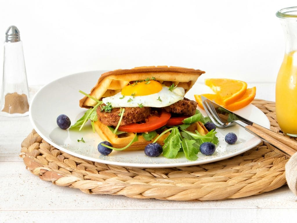 Schouten Europe: manufacturer vegetarian en vegan meat substitutes: Vegetarian breafkfast patty