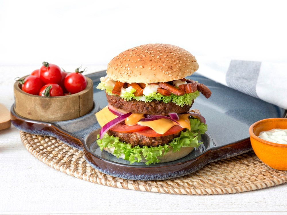 Schouten Europe - Producent vleesvervangers: Vegan Legendary Burger