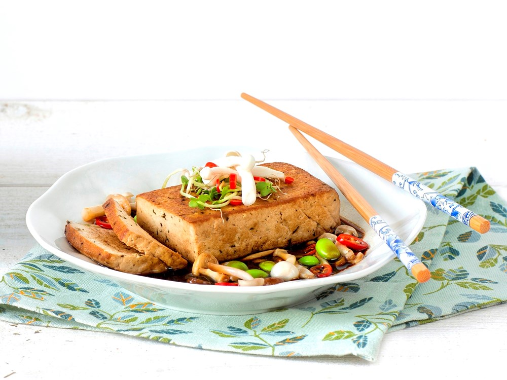 Schouten Europe - Manufacturer of meat substitutes: Vegan Tofu Block Marinated