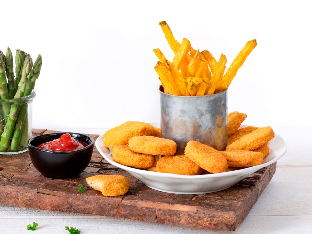 Schouten Europe - Producent vleesvervangers: Vegan Nuggets zonder kip