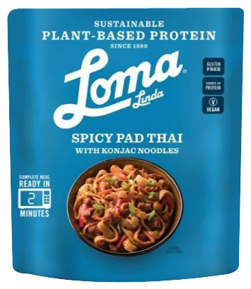 Plant-based protein producten als ingrediënt: Loma Linda Spicy Pad Thai With Konjac Noodles