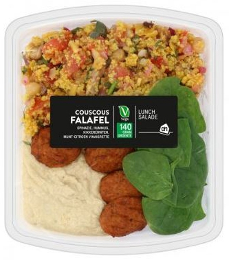 Plant-based protein producten als ingrediënt: Lunch Salad Couscous Falafel