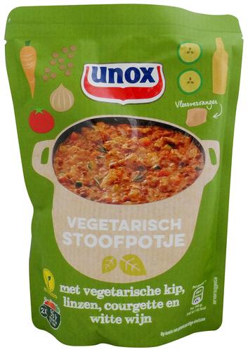 Plant-based protein producten als ingrediënt : Unox-Stew-with-vegetarian-chicken