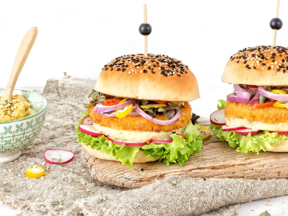 Schouten Europe - Manufacturer of meat substitutes: Vegan Chickenless Burger
