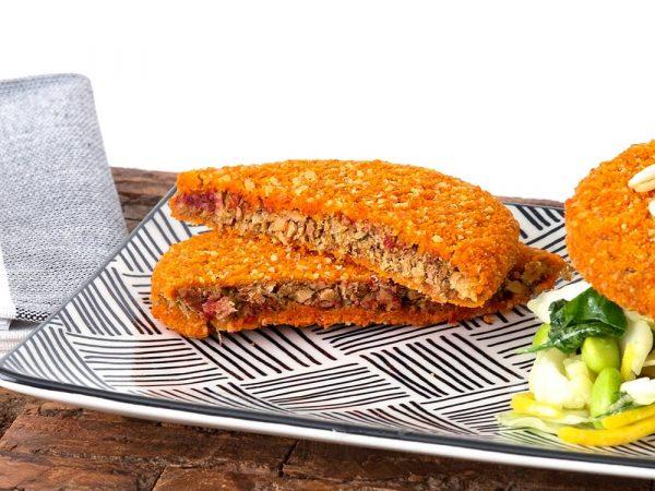 Schouten Europe - Producent vleesvervangers: Vegan Burger Oriëntaalse stijl