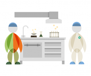 Schouten Specialist in the development of plant-based products - illustration laboratory