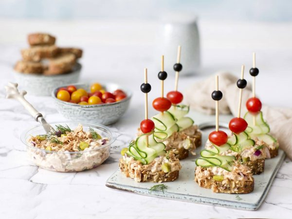 Toast with Green vegan Tuna: Schouten specialist in plant-based protein products