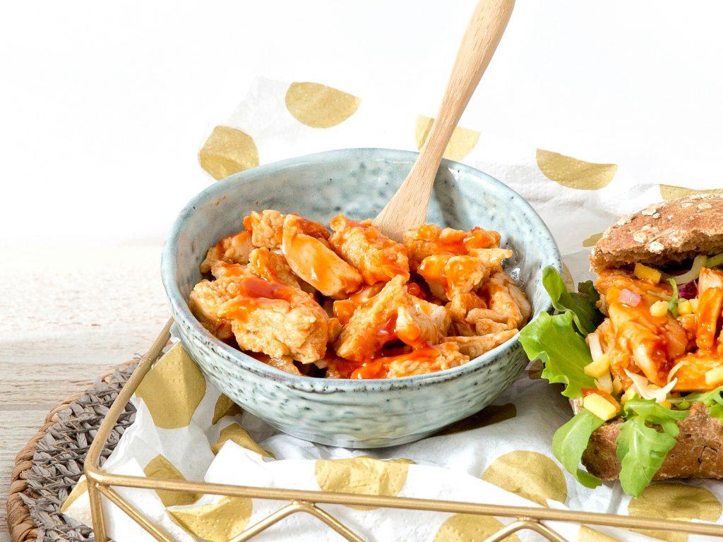 Schouten plant-based products: Vegan Chickenless pieces Piri Piri