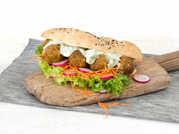 Schouten Europe - Manufacturer of meat substitutes: Vegan Falafel Fresh Herbs