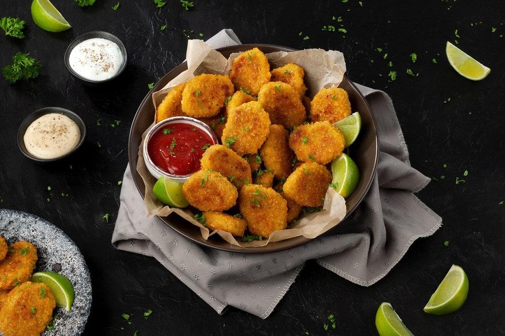 Schouten Europe - Manufacturer of meat substitutes: Vegan Crunchy Nuggets