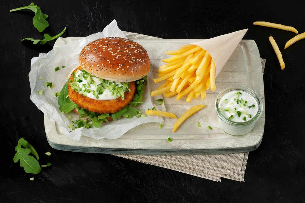 Schouten Europe - Manufacturer of meat substitutes: Vegan Fishless Burger
